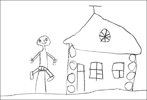 Kolya's drawing (to put on a play)